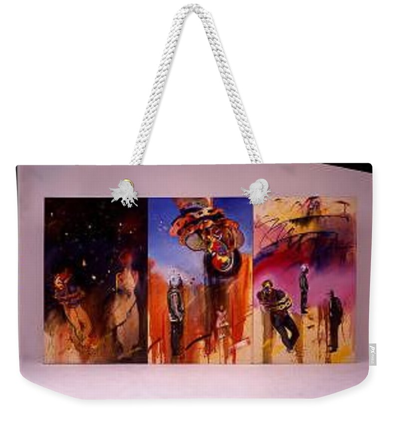 Canvas Weekender Tote Bag featuring the painting Love Hurts by Charles Stuart