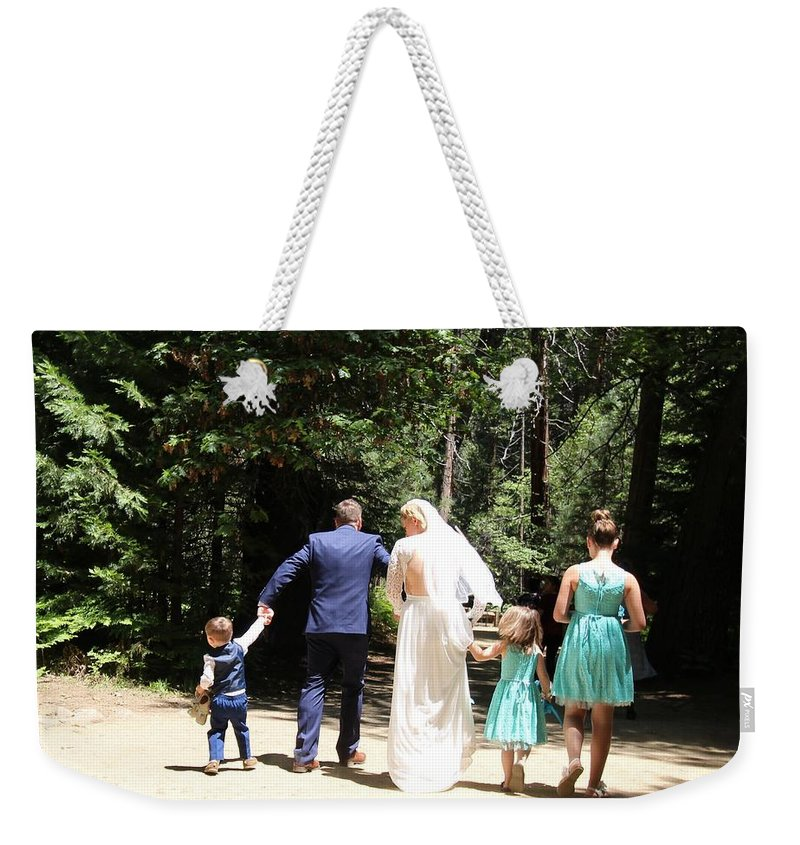 Weekender Tote Bag featuring the painting Married by Travis Day