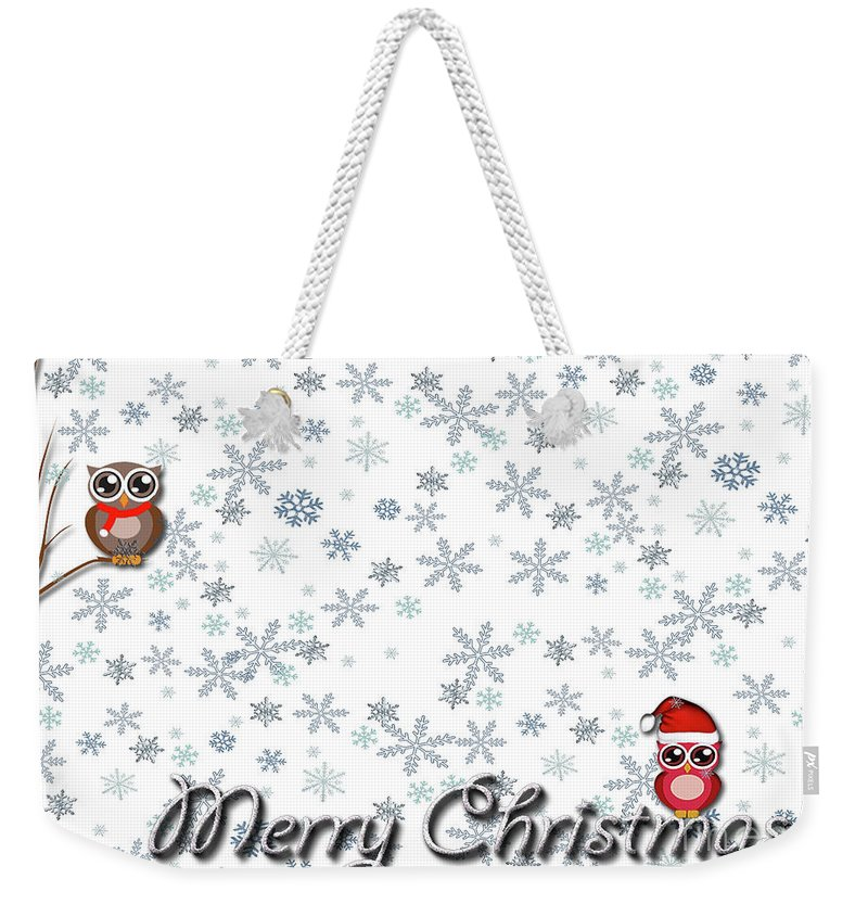 Christmas Weekender Tote Bag featuring the photograph Christmas Card 8 by Nina Ficur Feenan