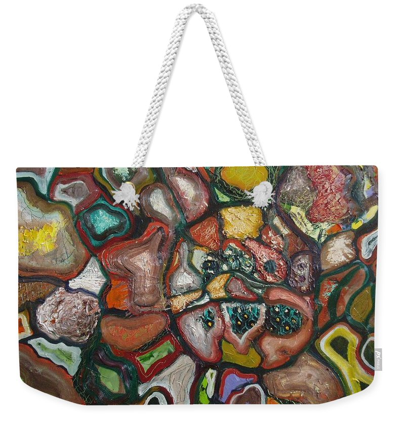 Abstract Paintings Paintings Abstract Art Paintings Weekender Tote Bag featuring the painting Mindscape by Seon-Jeong Kim