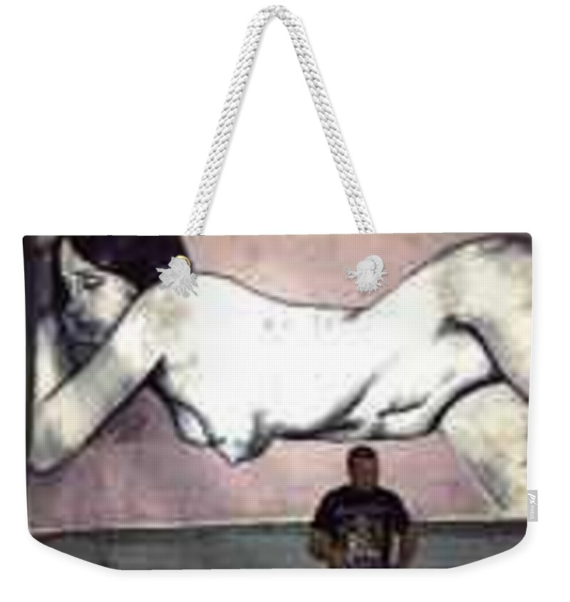 Nude Weekender Tote Bag featuring the painting Missy by Thomas Valentine