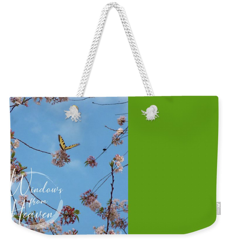 Butterfly Weekender Tote Bag featuring the photograph New Beginnings by Matthew Seufer