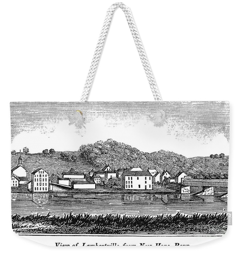 1844 Weekender Tote Bag featuring the photograph New Jersey, 1844 by Granger