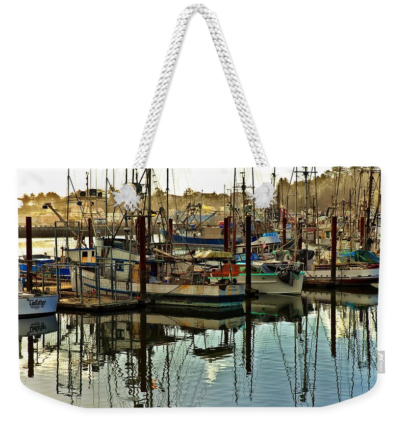 Newport Oregon Weekender Tote Bag featuring the photograph Newport Marina by Diana Powell