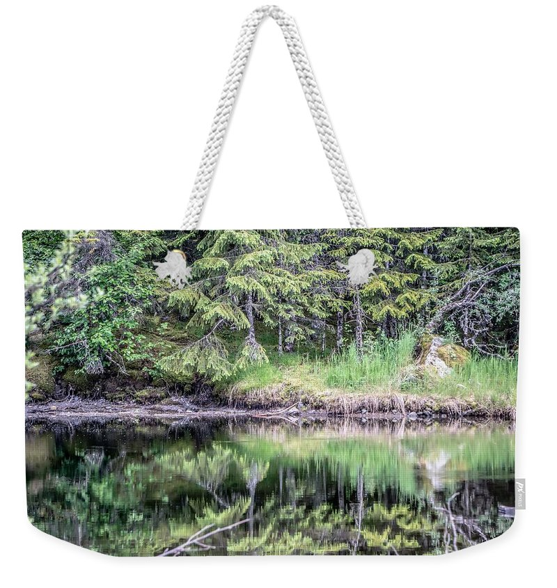 Alaska Weekender Tote Bag featuring the photograph Northern Landscape And Nature In Alaska Panhandle by Alex Grichenko