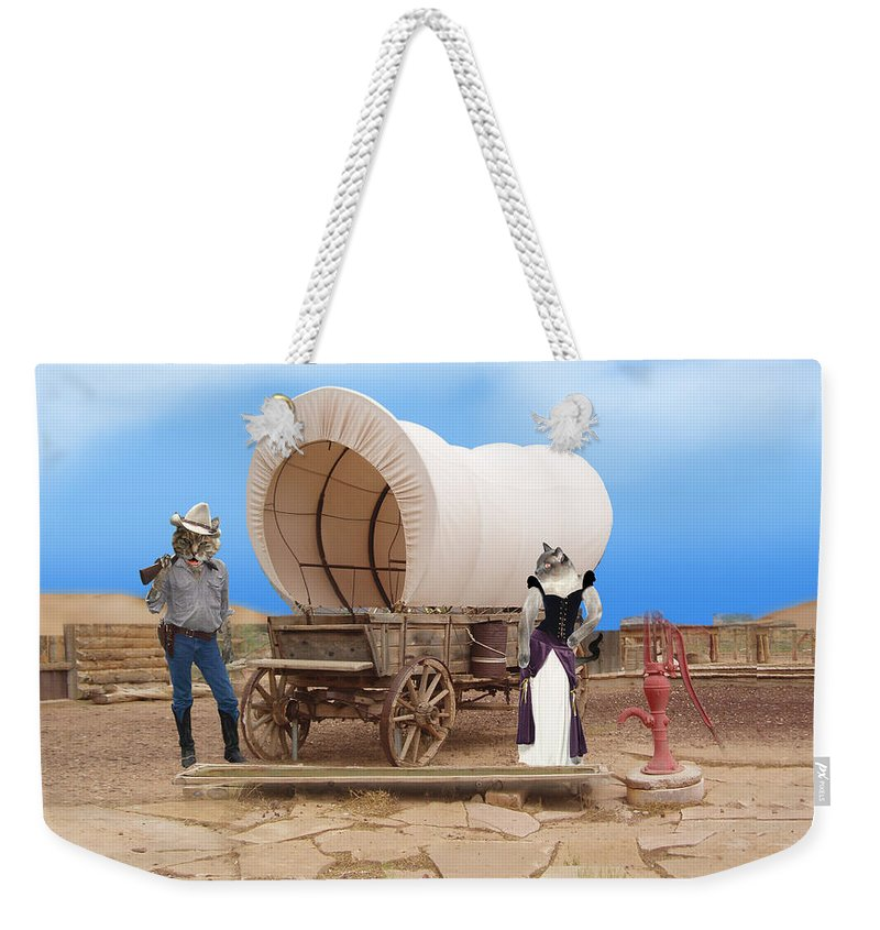 Cats Weekender Tote Bag featuring the photograph Old West Cats by Gravityx9 Designs
