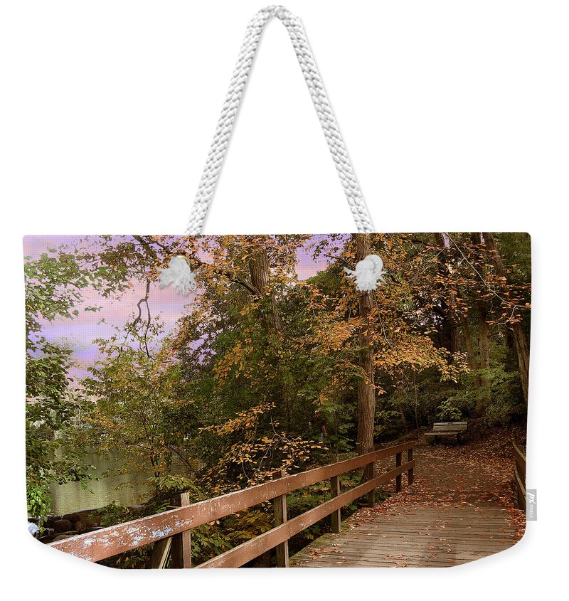 Nature Weekender Tote Bag featuring the photograph Peaceful Repose by Jessica Jenney