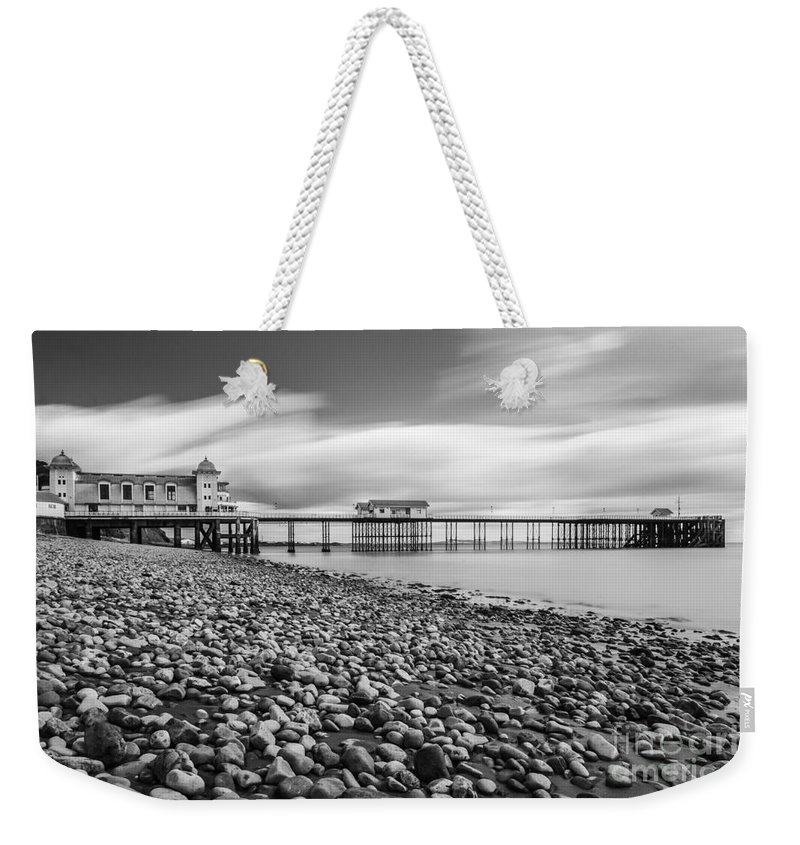 Penarth Pier Weekender Tote Bag featuring the photograph Penarth Pier 5 by Steve Purnell
