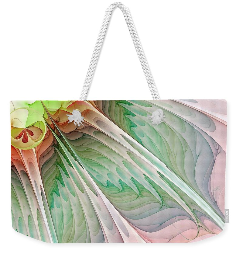 Digital Art Weekender Tote Bag featuring the digital art Petals by Amanda Moore