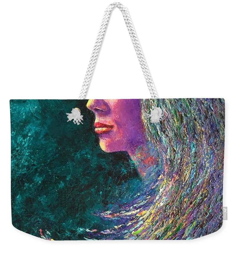 Phoenix Weekender Tote Bag featuring the painting Phoenix by Shannon Grissom
