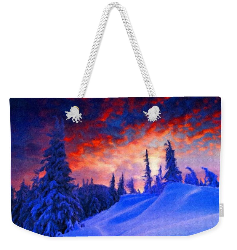 A Weekender Tote Bag featuring the digital art Q Landscape by Usa Map