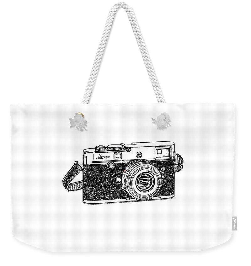Analog Weekender Tote Bag featuring the digital art Rangefinder Camera by Setsiri Silapasuwanchai