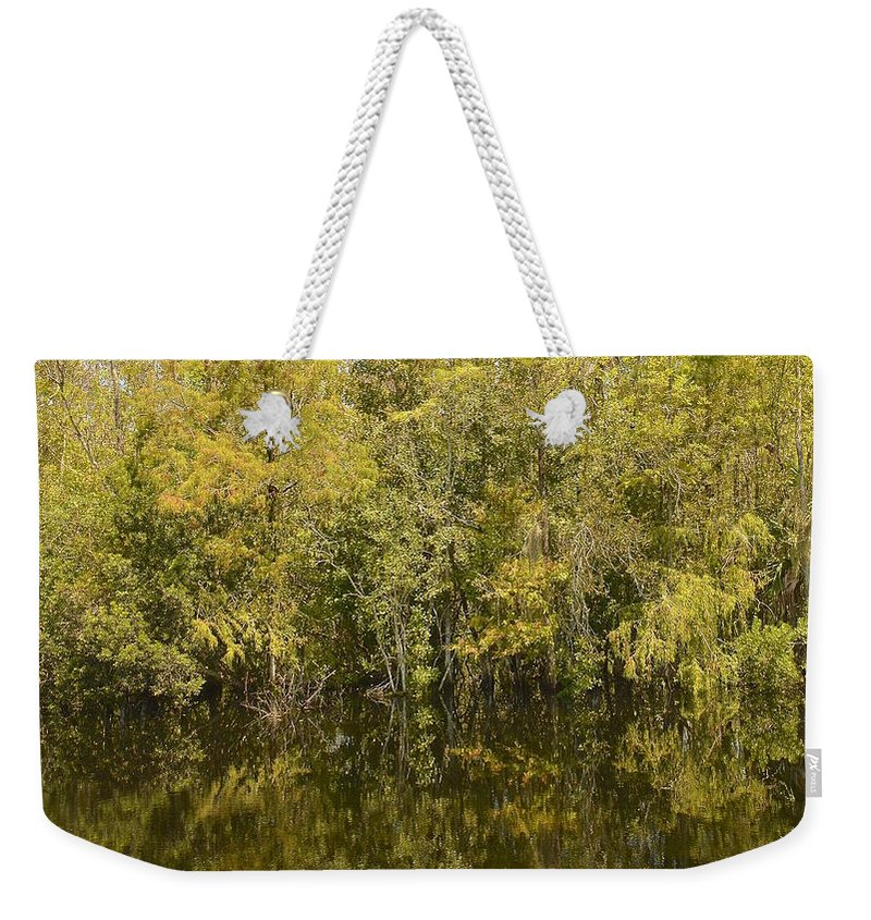 Everglades Weekender Tote Bag featuring the photograph Reflections by Carol Bradley
