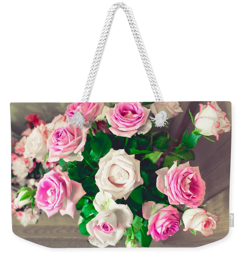 Wedding Bouquet Weekender Tote Bags
