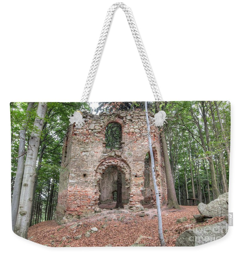 Chapel Weekender Tote Bag featuring the photograph Ruins Of The Baroque Chapel Of Saint Mary Magdalene by Michal Boubin