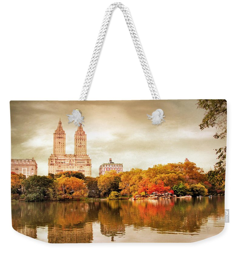 New York City Weekender Tote Bag featuring the photograph San Remo Views by Jessica Jenney