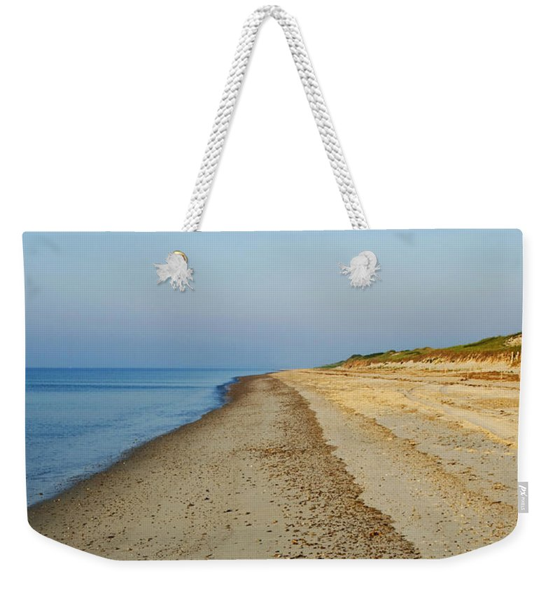 Sandy Neck Weekender Tote Bag featuring the photograph Sandy Neck Beach by Charles Harden