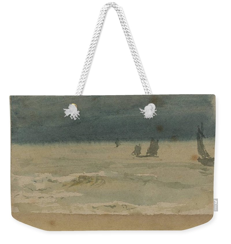 William Henry Hunt 1790�1864 Title Seascape 3 Weekender Tote Bag featuring the painting Seascape by William Henry