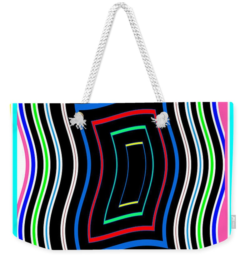 Smart Weekender Tote Bag featuring the mixed media Smart Graphics Techy Techno Kids Room Lowprice Wall Posters Graphic Abstracts For Throw Pillows Duve by Navin Joshi
