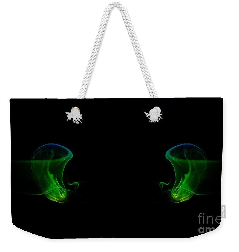 Abstract Weekender Tote Bag featuring the photograph smoke XXXIV by Joerg Lingnau