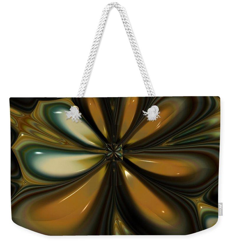 Fractal Art Weekender Tote Bag featuring the digital art Smooth by Amanda Moore