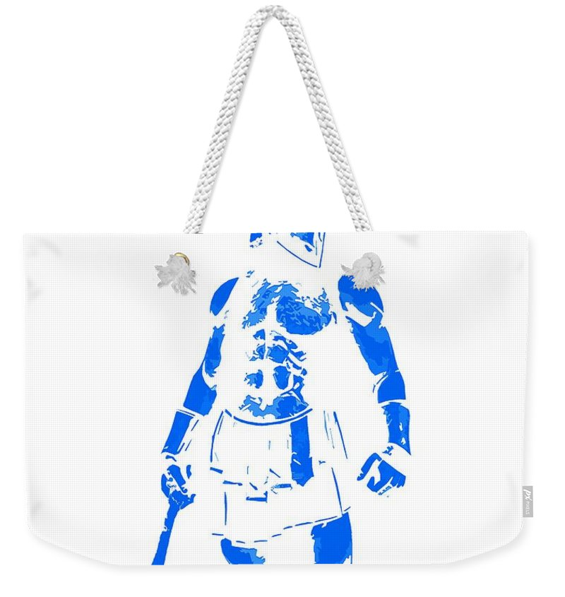 Spartan Warrior Weekender Tote Bag featuring the painting Spartan Hero by Andrea Mazzocchetti