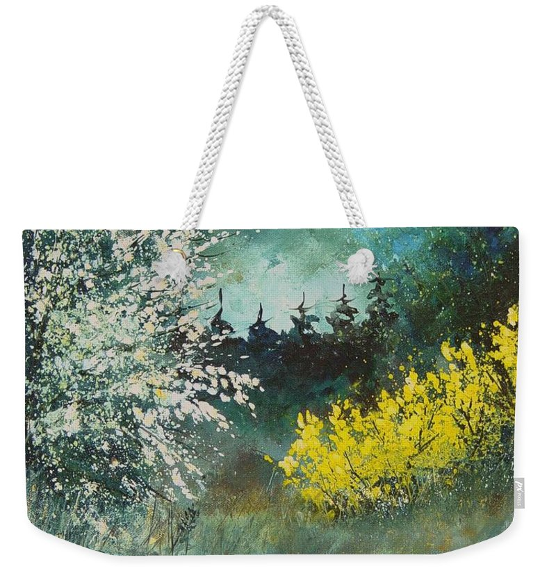 Spring Weekender Tote Bag featuring the painting Spring by Pol Ledent