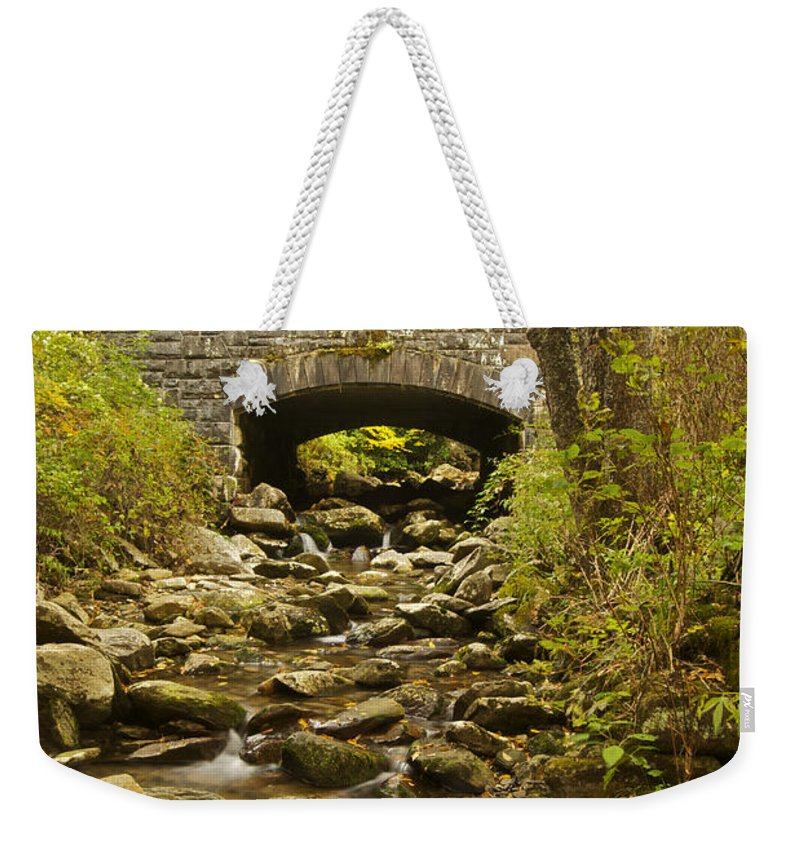 Tennessee Weekender Tote Bag featuring the photograph Stone Bridge 6063 by Michael Peychich