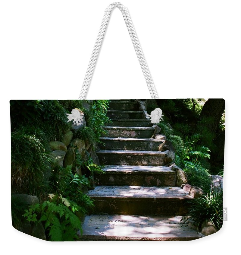 Nature Weekender Tote Bag featuring the photograph Stone Steps by Dean Triolo