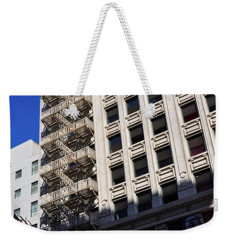 Clay Weekender Tote Bag featuring the photograph Street Photography by Clayton Bruster