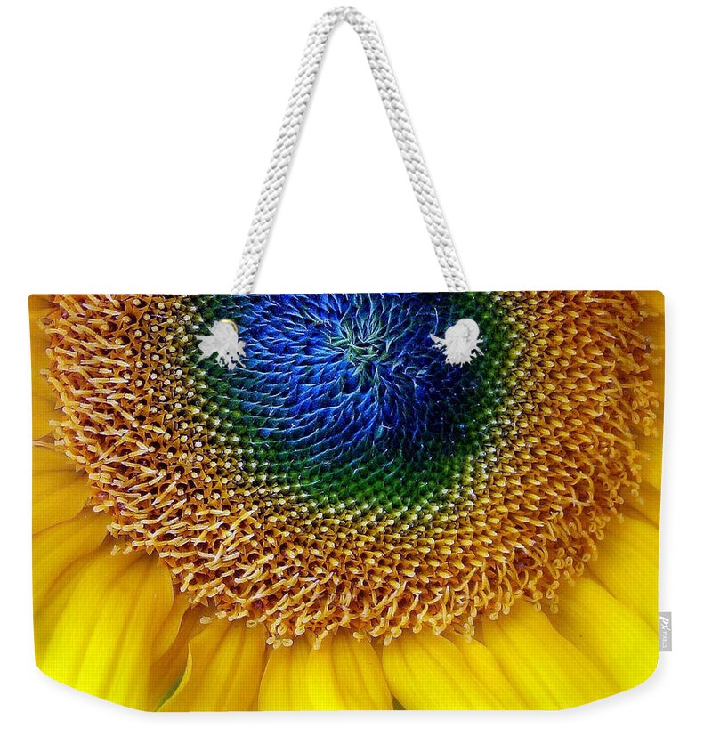 Flower Weekender Tote Bag featuring the photograph Sunflower by Jessica Jenney