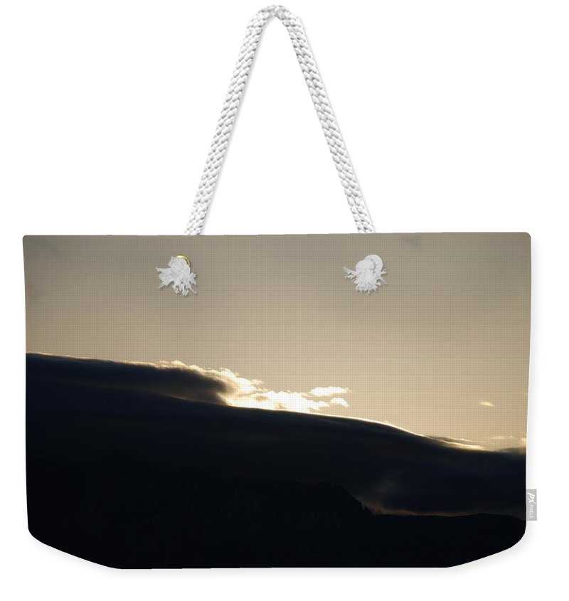 Sunrise Weekender Tote Bag featuring the photograph Sunrise Over The Sandias by Rob Hans
