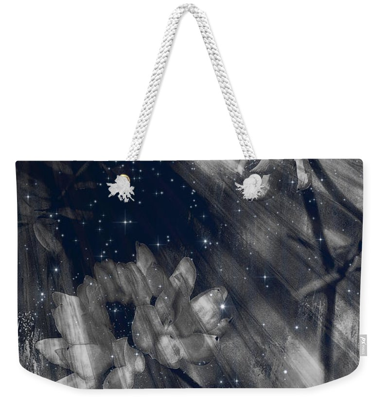 Abstract Weekender Tote Bag featuring the digital art Symbiosis by Theresa Campbell
