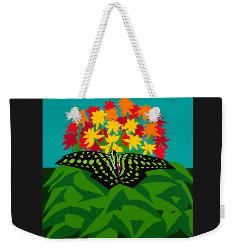 Butterflies Weekender Tote Bag featuring the painting Tailed Jay by Synthia SAINT JAMES