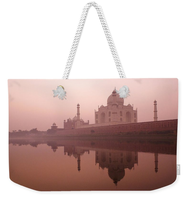 Taj Mahal Weekender Tote Bag featuring the photograph Taj Mahal At Dawn by Michele Burgess