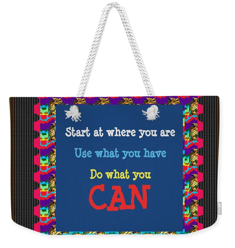 Quote Weekender Tote Bag featuring the painting Text Quote Wisdom Words Life Experience By Navinjoshi At Fineartamerica T-shirts Pillows Pod Gifts by Navin Joshi