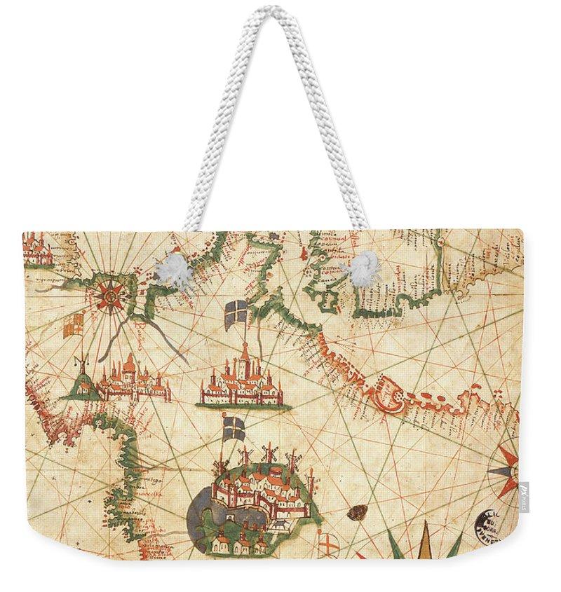 Compass Drawings Weekender Tote Bags