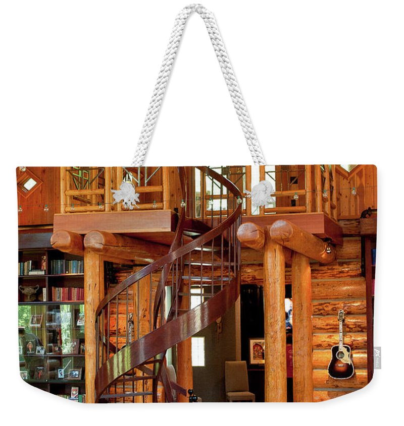 Fontanel Weekender Tote Bag featuring the photograph The Fontanel Mansion Farm The Former Home Of Barbara Mandrell Outside Nashville, Tennessee by Timothy Wildey
