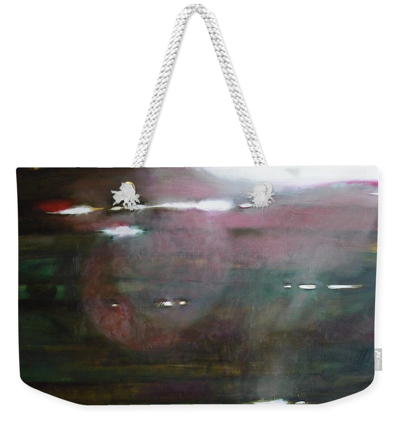 Oil Weekender Tote Bag featuring the painting The Parallel World by Sergey Ignatenko