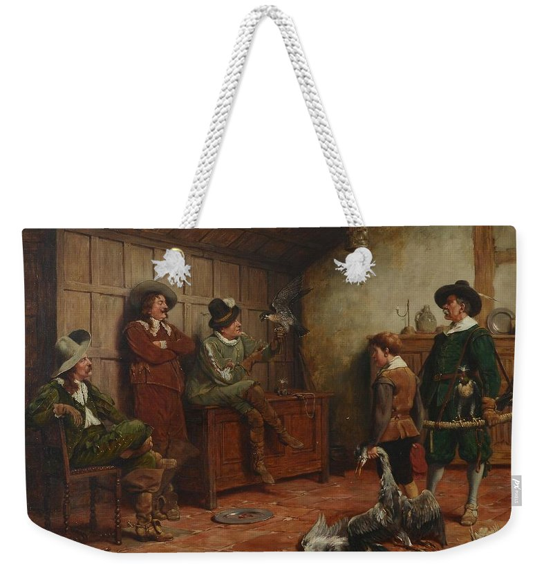 Stephen Lewin (fl. 1880 - 1910) The Reward Weekender Tote Bag featuring the painting The Reward by MotionAge Designs