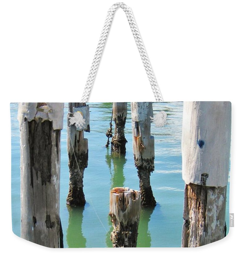 Docks Weekender Tote Bag featuring the photograph The Signs Of Time by Rene Triay Photography