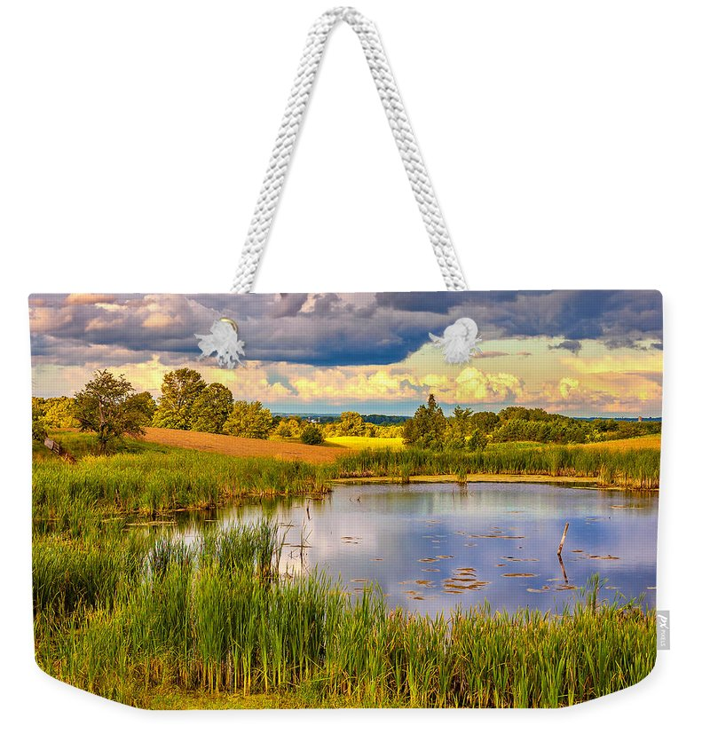 Landscape Weekender Tote Bag featuring the photograph The Source by Steve Harrington