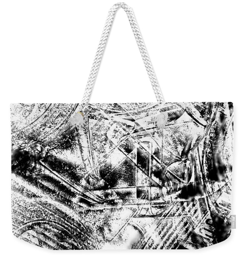 Abstract Weekender Tote Bag featuring the photograph The Web by Tom Gowanlock