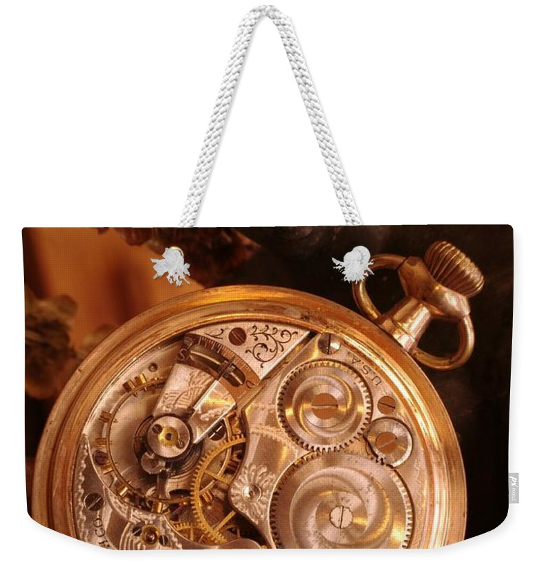 Watch Weekender Tote Bag featuring the photograph Time... by Arthur Miller