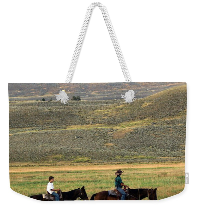 Horse Weekender Tote Bag featuring the photograph Trail Ride by Marty Koch