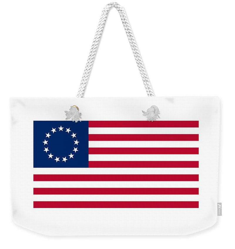 Banner Weekender Tote Bag featuring the digital art United States Flag by Frederick Holiday