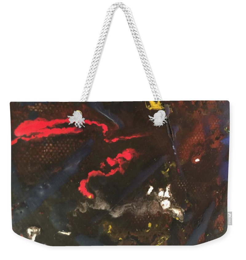 Abstract Weekender Tote Bag featuring the painting Untitled by Kyle Braund