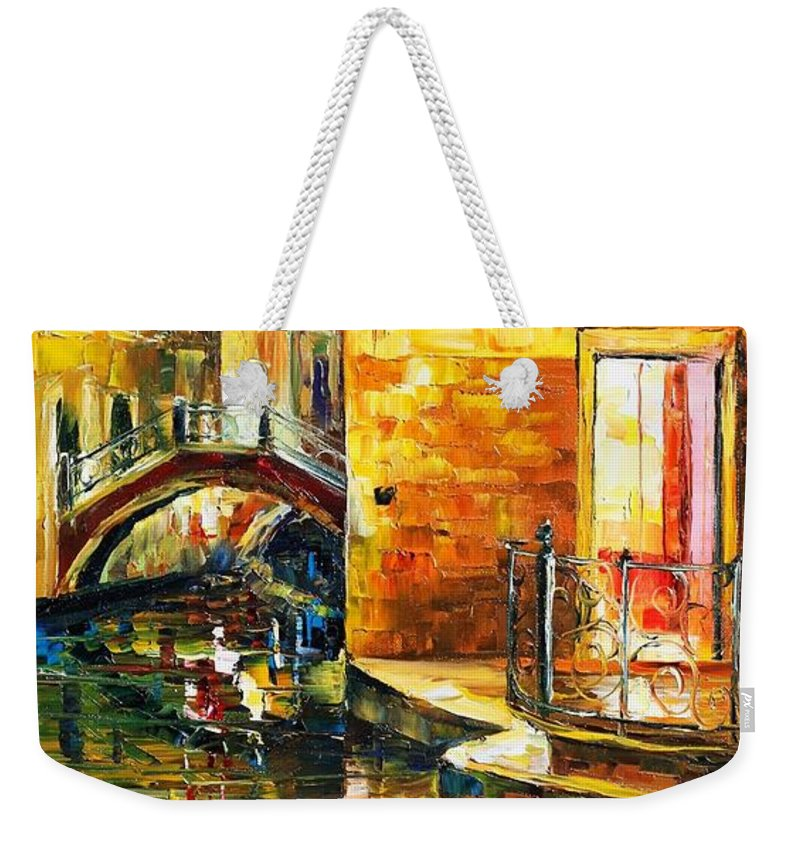 Afremov Weekender Tote Bag featuring the painting Venice by Leonid Afremov
