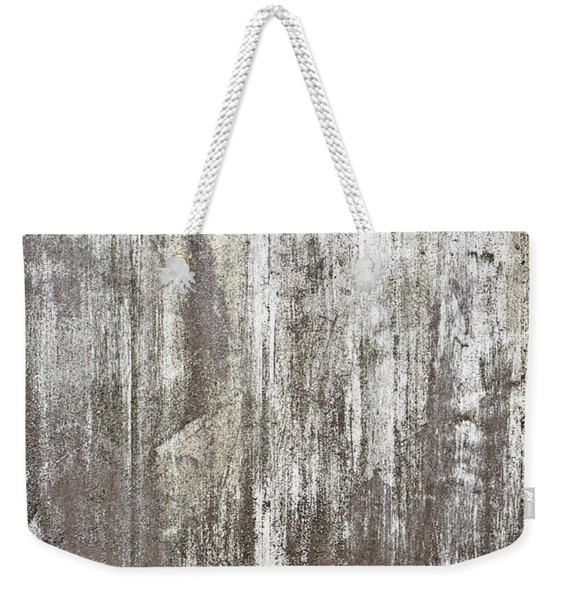 Abandoned Weekender Tote Bag featuring the photograph Weathered Metal by Tom Gowanlock