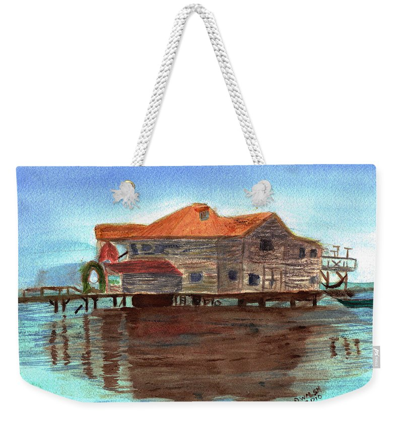 Water Weekender Tote Bag featuring the painting West End Roatan by Donna Walsh